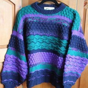 Vintage 80s Oversized Tu Janz Knit Sweater